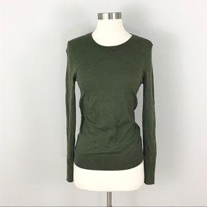 Banana Republic Small Merino wool sweater green